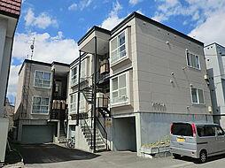 北海道札幌市東区北十六条東14丁目の賃貸アパートの外観