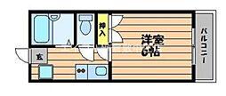 水島臨海鉄道 栄駅 3.8kmの賃貸アパート 5階1Kの間取り