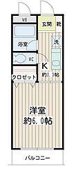 神奈川県横浜市鶴見区鶴見中央5の賃貸マンションの間取り