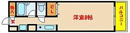 クロスロードハイツ山崎[8階]の間取り