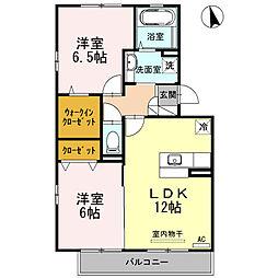 サンストロベリーA棟[2階]の間取り