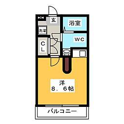 メモリアル博多[6階]の間取り