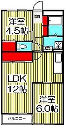 ソシアル末広[1階]の間取り
