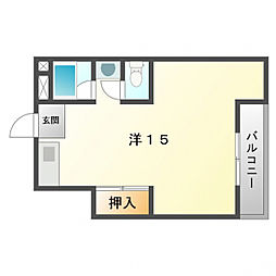 寝屋川コーポラスI[4階]の間取り