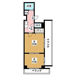 sawarabiハイッテン[7階]の間取り