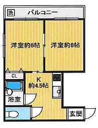 オーナーズマンション西明石[3階]の間取り