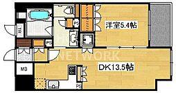 リーガル京都堀川五条通り[805号室号室]の間取り