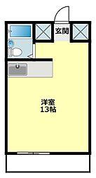 愛知県岡崎市不吹町の賃貸マンションの間取り