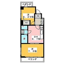 サクシード水の[3階]の間取り