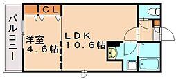 Branche箱崎宮前[1階]の間取り