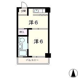 大津におの浜小堀マンション[4階]の間取り
