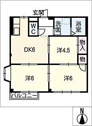サンハイツ岩田B.C[1階]の間取り