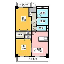 ラ・フォンターナ[4階]の間取り