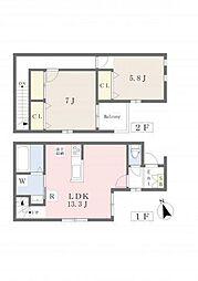 仮称)東大阪市花園東町2丁目新築計画[2階]の間取り