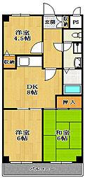 ドゥウェルプレシャス[2階]の間取り