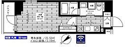 西武新宿線 鷺ノ宮駅 徒歩8分の賃貸マンション 5階1Kの間取り