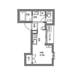 エブリネット新宿 3階ワンルームの間取り
