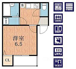 CASA加美正覚寺[2階]の間取り