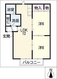 ラビアンローゼT・R・S[2階]の間取り