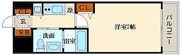 トヨトミステイプレミアムアベノテンノウジ 9階1Kの間取り