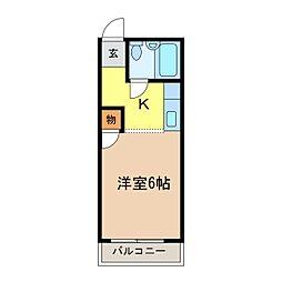 ハイツタキタニ[306号室]の間取り