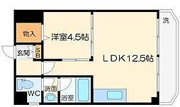 イーズマンションII 5階1LDKの間取り