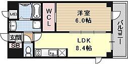 エスリード京都吉祥院 1階1LDKの間取り