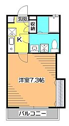 東京都小平市学園東町3の賃貸アパートの間取り