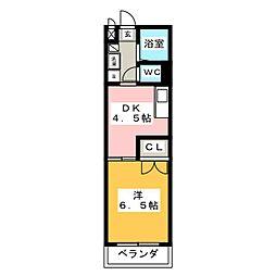 メゾンドマルキーズ[5階]の間取り