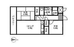 神奈川県大和市下和田の賃貸マンションの間取り