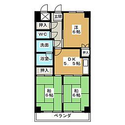 タキマツ第3マンション[1階]の間取り