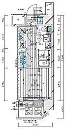 メインステージ横濱伊勢佐木II 11階1Kの間取り