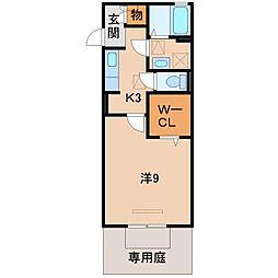 D-room南出島[1階]の間取り