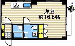 兵庫県神戸市長田区苅藻通1丁目の賃貸マンションの間取り