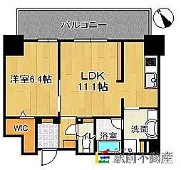 (仮)博多駅東3丁目プロジェクト[1404号室]の間取り