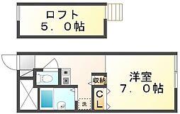 香川県高松市川島本町の賃貸アパートの間取り