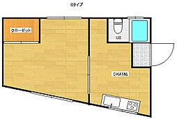 エクセルサニーハイツ[3階]の間取り