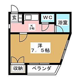 レジデンスササキ[1階]の間取り