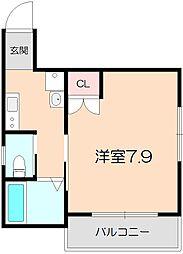 上野西グランハイツB[302号室]の間取り