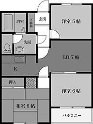 パルナスG[2階]の間取り
