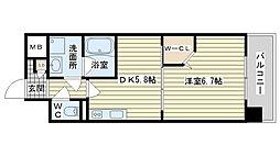 大阪府高槻市上牧南駅前町の賃貸マンションの間取り