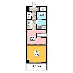 ルミエール青山8[1階]の間取り