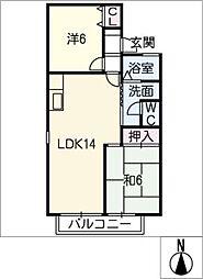 ラフォーレ霞ケ丘[1階]の間取り