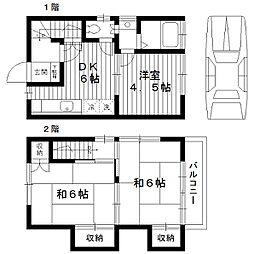 [タウンハウス] 東京都練馬区向山4丁目 の賃貸【東京都 / 練馬区】の間取り