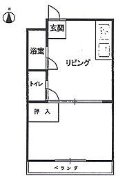 ハイツ京御所[3階]の間取り