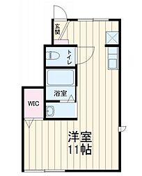 エスポワールKasukabe[102号室]の間取り