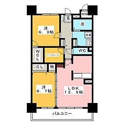 ガーデンハイツ ベル[4階]の間取り