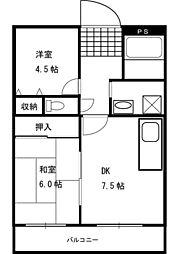 ニューピュア一之江[1階]の間取り