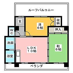 愛知県名古屋市天白区梅が丘5の賃貸マンションの間取り