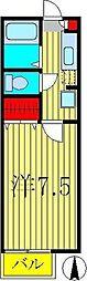 コーポヤマザキ[1階]の間取り